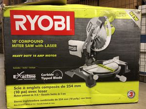 Ryobi Mitter Saw with Laser-$75 for Sale in Washington, DC