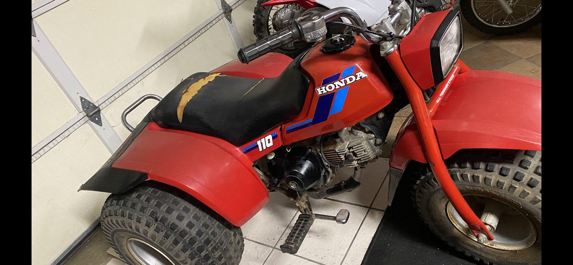 Photo 1986 Honda 110 three wheeler no title runs