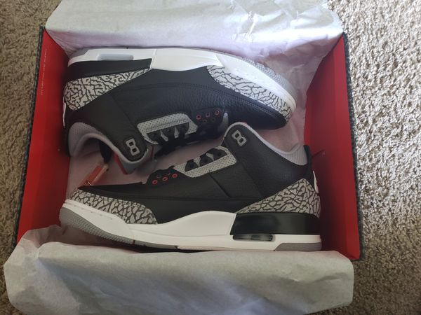arrives 47676 c1cde Air Jordan retro 3 size 10.5 black/cement for Sale in Houston, TX - OfferUp