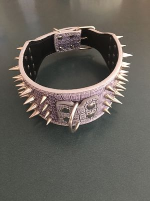 Brand new All leather XL Spiked dog collar for Sale in Upper Marlboro, MD