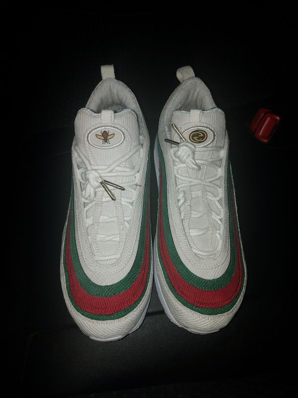 71741f6d509 Custom Gucci x Nike Air Max 1 97 Hybrid White Red Green for Sale in ...