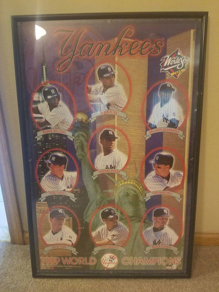 Yankee framed poster