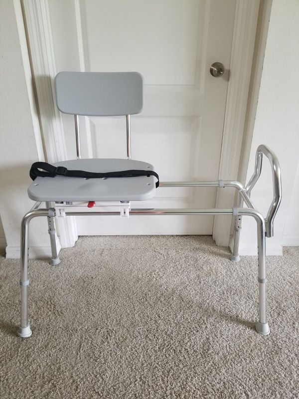 Eagle Health Supplies Swivel Sliding Shower Transfer Bench with ...