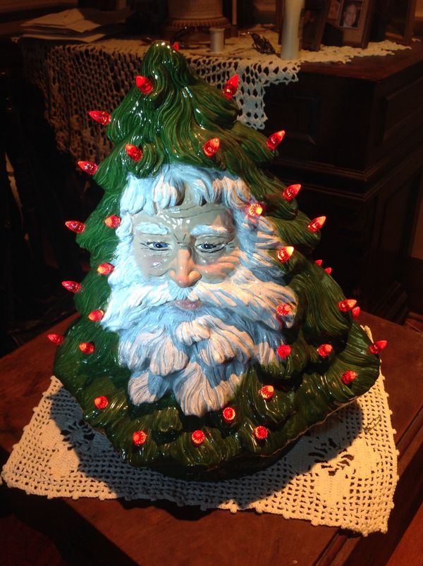 Ceramic Christmas Tree With Santa Face For Sale In Springboro Oh Offerup