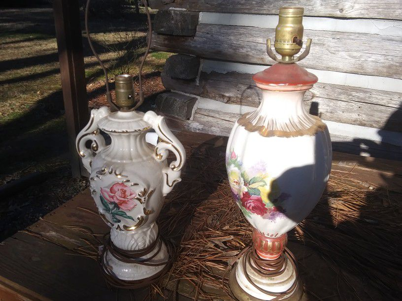 Two Antique Lamps