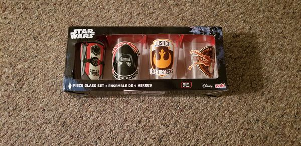 df9f3a16c46 Star wars collectable glasses. 4 pack for Sale in East Moriches