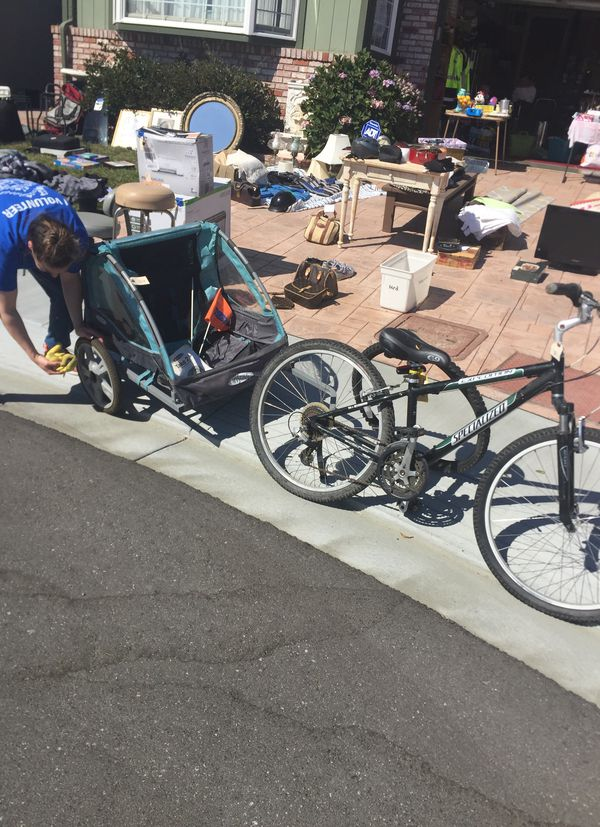 Specialized expedition bike with take two seat bicycle trailer serious  buyers only for Sale in San Bruno, CA - OfferUp