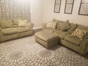 Four piece microfiber couch set for Sale in Portland, OR