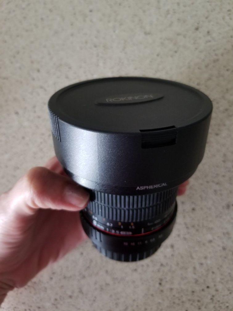 Rokinon 8mm f/3.5 UMC Fish eye CS 2 Lens