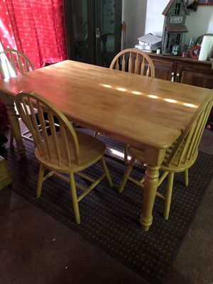 Four chairs and table for Sale in Crewe, VA