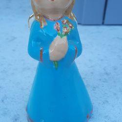 Vintage Porcelain Figure Of A Lil Girl Angel Singing Thumbnail