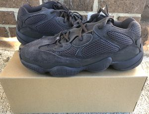 100% Authentic Adidas Yeezy 500 Utility Black size 10 for Sale in Rockville, MD