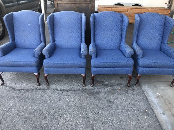 set of four blue chairs for sale in fresno ca offerup