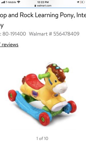 Photo VTech, Gallop and Rock Learning Pony, Interactive Ride-On Toy rocking horse
