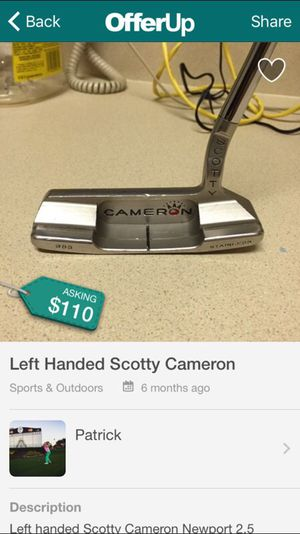 Scotty Cameron Left Handed Putters >> Left Handed Scotty Cameron Newport 2 5 For Sale In North