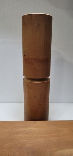 "Vintage  Wooden Balance Board 34"" Balance Fitness Roller 16"" Thumbnail"