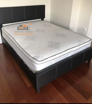 Brand new queen size platform bed frame with pillowtop mattress for Sale in Silver Spring, MD