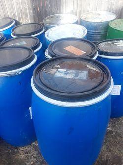 55 gallon plastic barrels Thumbnail