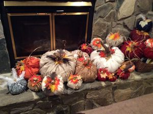 Handmade stuffed pumpkins great for Fall decorating for Sale in Apex, NC