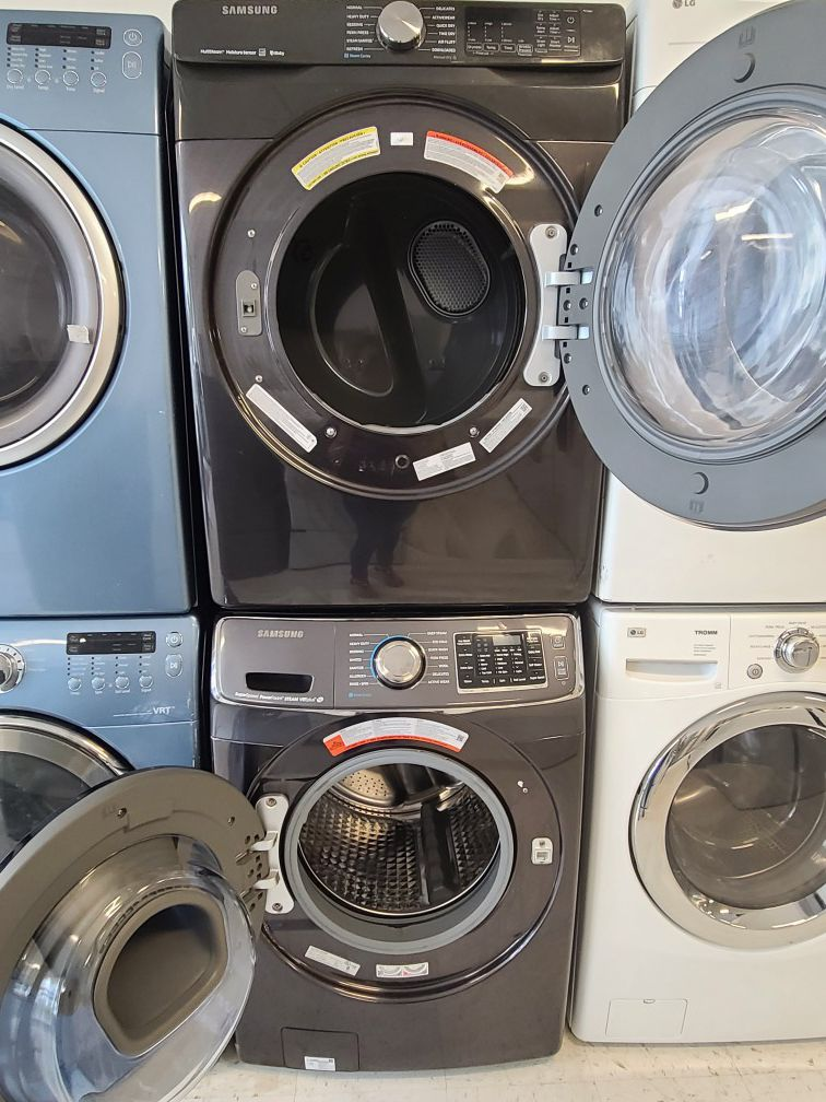 Samsung front load washer used and gas dryer new with 4 month's warranty