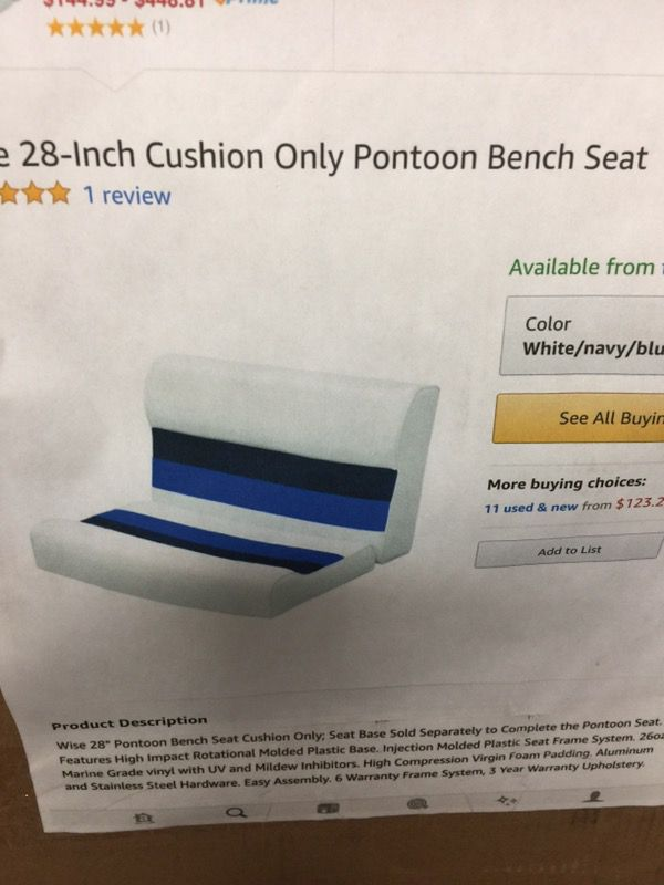 28 Pontoon Bench New In Box For Sale In Henderson Nv Offerup