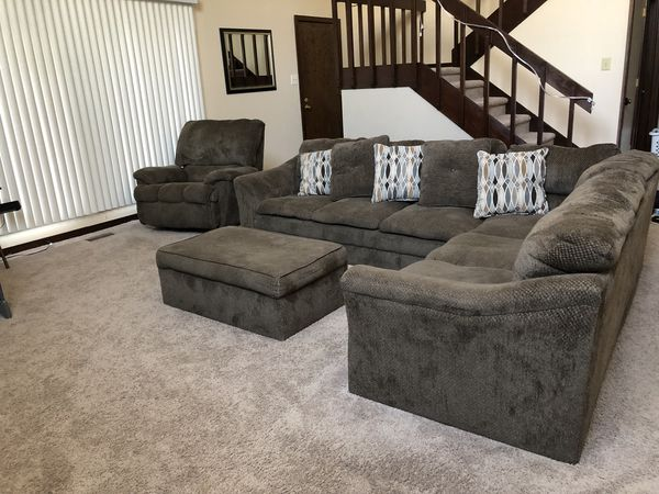Sectional W Chair And Ottoman Furniture In Fayetteville NC