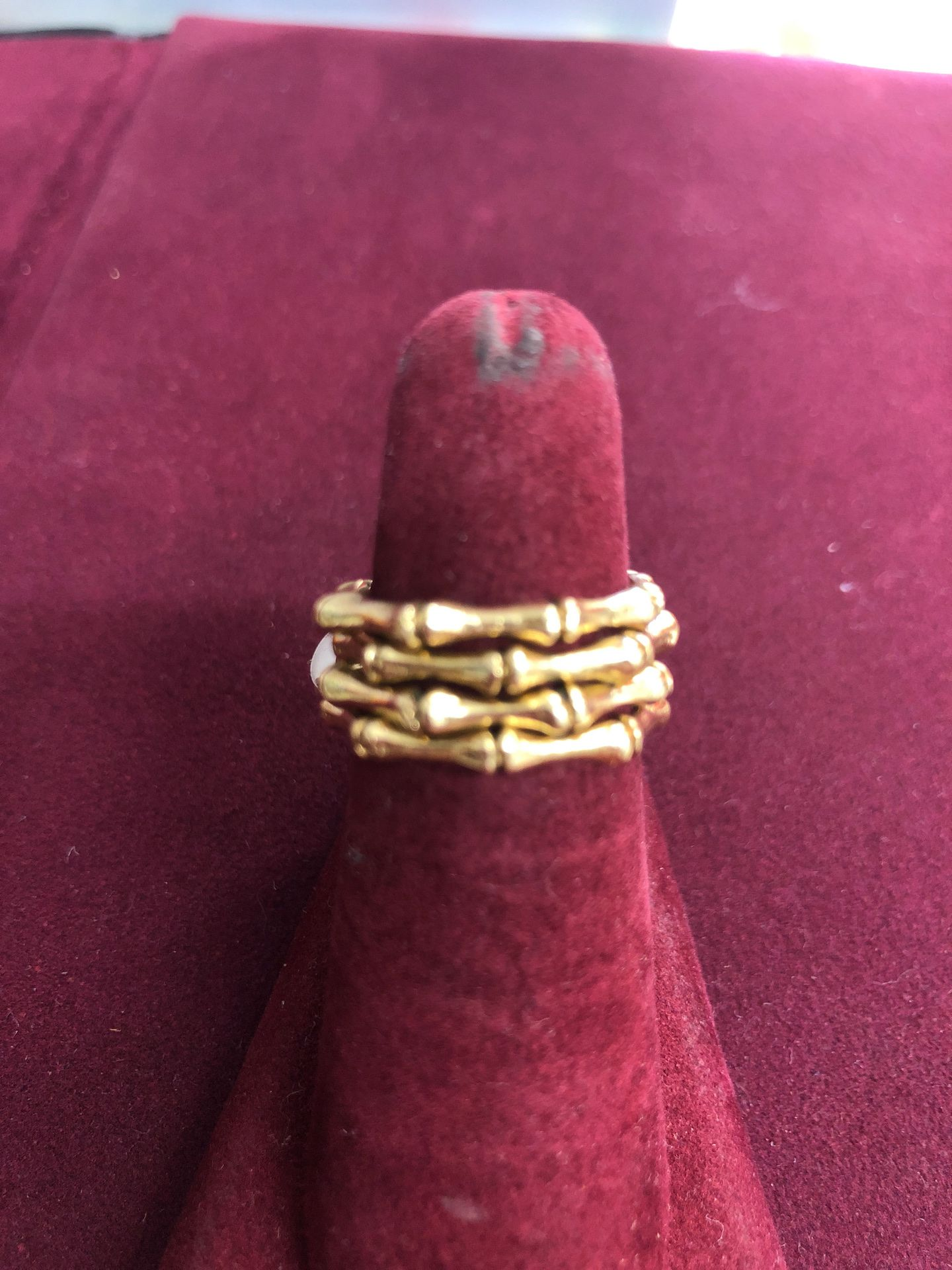 Bamboo style Rings