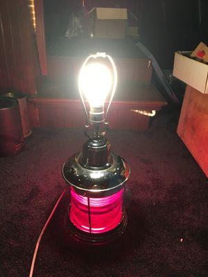 Maritime Naval light lamp red beautiful chrome for Sale in Atlanta, GA