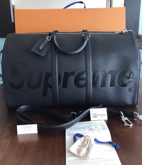 5691f3db5215 Supreme x Louis Vuitton Keep All Duffle Bag (100% Authentic)    for ...