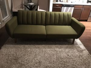 Olive Futon Couch for Sale in Beltsville, MD