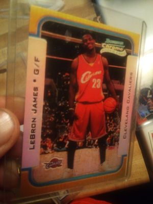 Photo LeBron James rookie card (reprint)