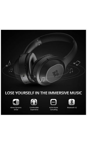 9c78774a9ce Mijiaer Active Noise Cancelling Headphones Bluetooth Headphones Wireless  Headphones Over Ear with Mic, Stereo ANC Headphones, 35 Hrs Playtime for  TV, ...