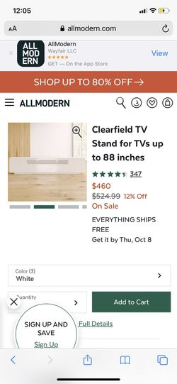 Tv Stand (come pick up I literally have exact same one) Thumbnail