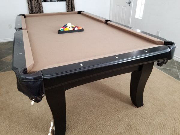 Pool Table Ft American Billiards Company Black WCamel Felt For - American pool table company