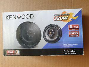 Photo Kenwood KFC-650 6-1/2 3-Way Speakers with Polypropylene Cones (Brand New)