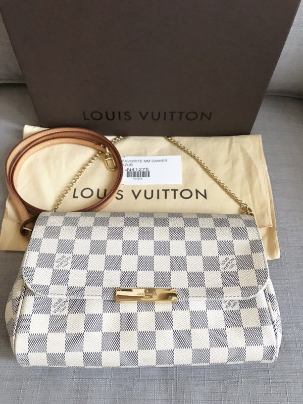 d52ecd32c4cd Louis Vuitton Favorite MM Crossbody Clutch Damier Azur for Sale in ...