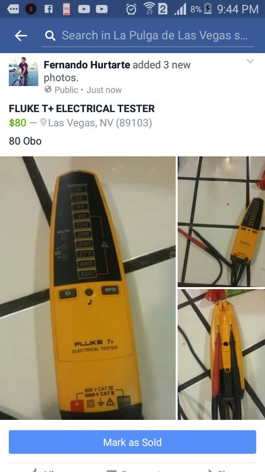 La Pulga De Las Vegas >> Fluke T Electical Tester For Sale In Las Vegas Nv Offerup