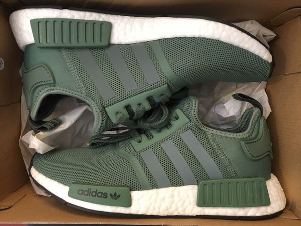 on sale 52b0e 08cb9 New adidas NMD R1 trace green running shoes men size 7 women 8