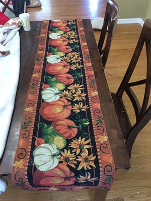 Thanksgiving/ Fall/ autumn 🍂 Table runner for Sale in Elgin, IL