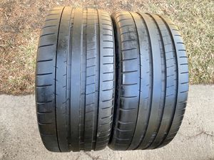 Photo ******(2) 235/35/19 inch tires ****Michelin Super sport ****70-75% tread life ****Sticky tires ***