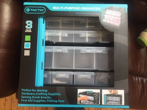 Multi organizer storage container green and black for Sale in Hyattsville, MD