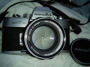 Minolta SRT 101 film camera 58 mm 1.4 mint tested for Sale in Alexandria, VA