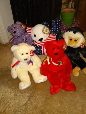 Large beanie babies all with tags$10 each for Sale in Alexandria, VA