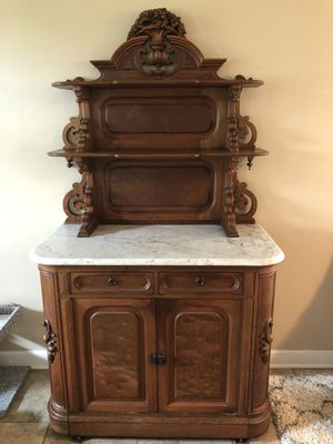 Antique Victorian Buffet server with marble top for Sale in Lake Mary, FL
