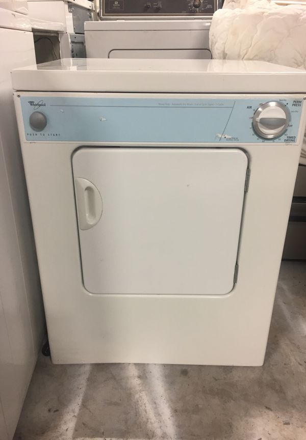 USED WHIRLPOOL ELECTRIC SMALL APARTMENT SIZE DRYER 110 V ...