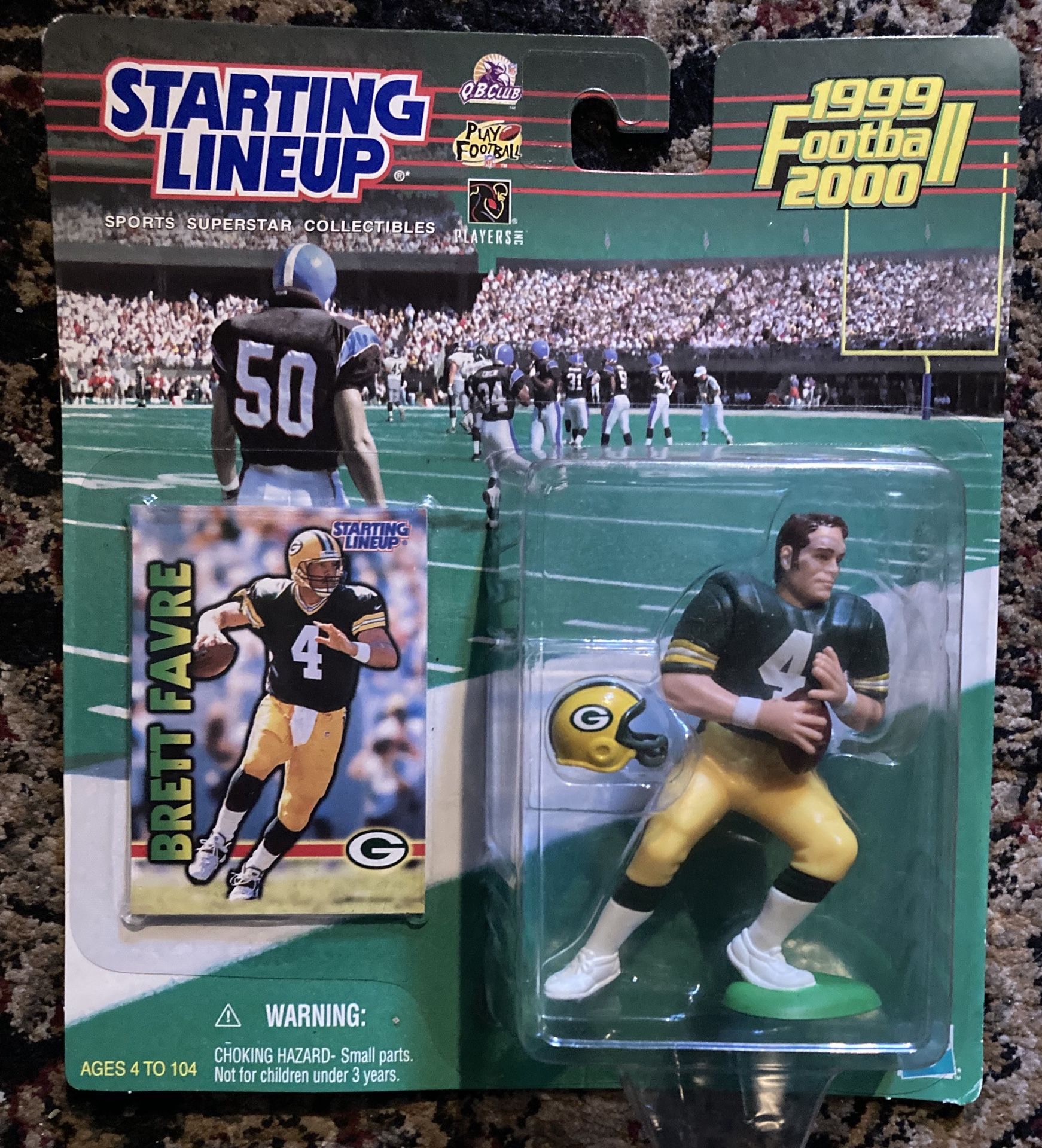 NFL starting lineup 1999 football Brett favre toy
