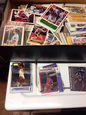 Basketball and baseball cards. And plastic card holders for Sale in Alexandria, VA