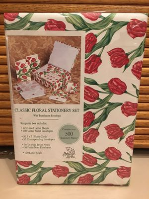 Classic Floral Stationary Set for Sale in Salem, OR