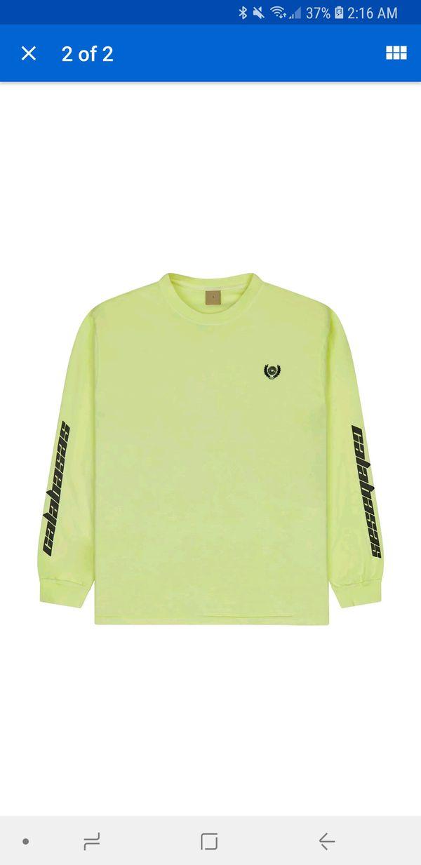 6d4e40be YEEZY Season 6 Calabasas Long Sleeve T-Shirt size Large L Frozen Yellow 350  500