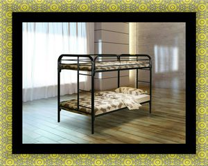 Twin bunk bed frame with mattress for Sale in Washington, DC